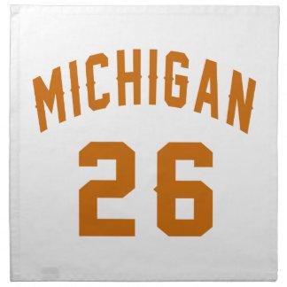 Michigan 26 Birthday Designs Napkin