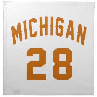 Michigan 28 Birthday Designs Napkin