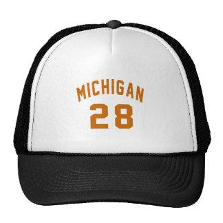 Michigan 28 Birthday Designs Trucker Hat