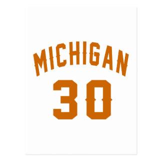 Michigan 30 Birthday Designs Postcard