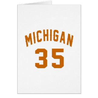 Michigan 35 Birthday Designs Card
