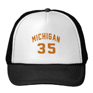 Michigan 35 Birthday Designs Trucker Hat