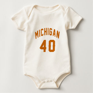 Michigan 40 Birthday Designs Baby Bodysuit