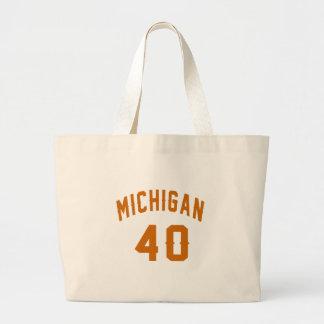 Michigan 40 Birthday Designs Large Tote Bag