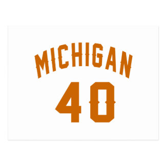 Michigan 40 Birthday Designs Postcard