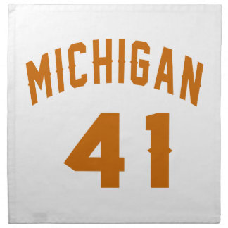 Michigan 41 Birthday Designs Napkin