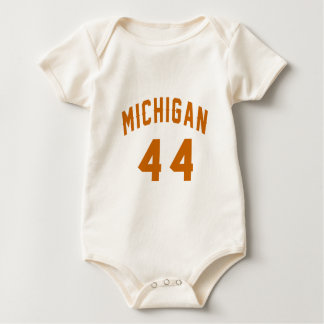 Michigan 44 Birthday Designs Baby Bodysuit