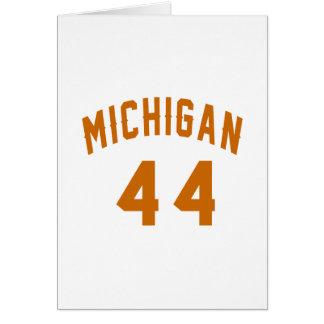 Michigan 44 Birthday Designs Card