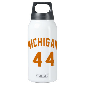 Michigan 44 Birthday Designs Insulated Water Bottle