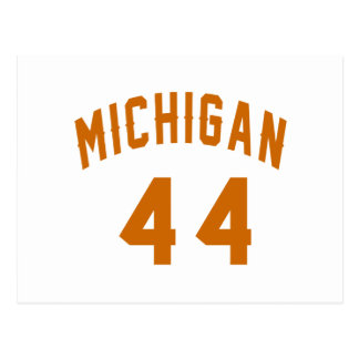Michigan 44 Birthday Designs Postcard