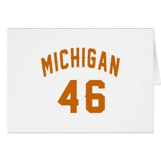 Michigan 46 Birthday Designs Card