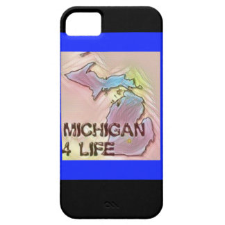 """Michigan 4 Life"" State Map Pride Design iPhone 5 Cases"