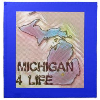 """Michigan 4 Life"" State Map Pride Design Napkin"