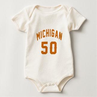 Michigan 50 Birthday Designs Baby Bodysuit