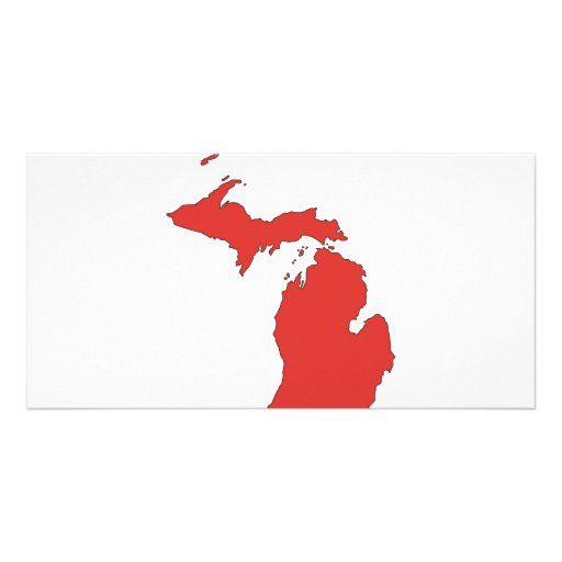 Michigan: A RED State Photo Card Template