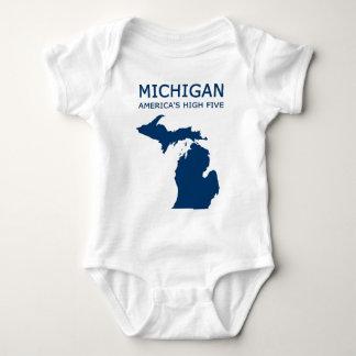 Michigan. America's High Five Baby Bodysuit