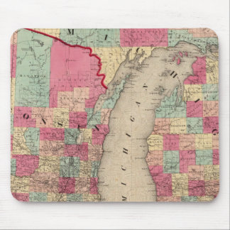 Michigan and Wisconsin Mouse Pad