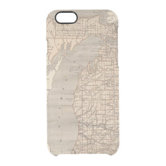 Michigan Atlas Map Clear iPhone 6/6S Case