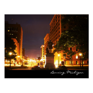 Michigan Avenue Lights Postcard