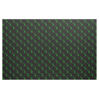 Michigan Black and Green Cotton Fabric