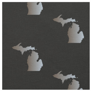 Michigan Black and Silver Cotton Fabric