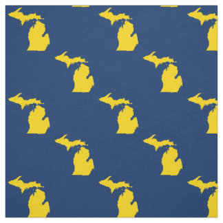 Michigan - Blue and Yellow - 100% Cotton Fabric