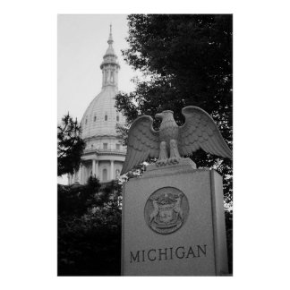 Michigan Capitol Building Poster