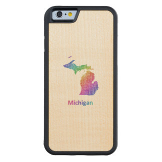 Michigan Carved Maple iPhone 6 Bumper Case