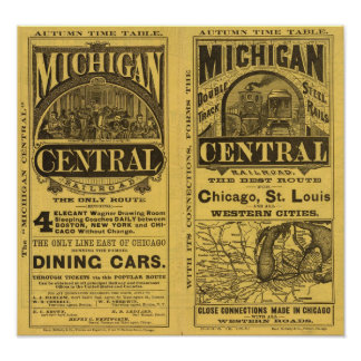 Michigan Central Railroad Poster