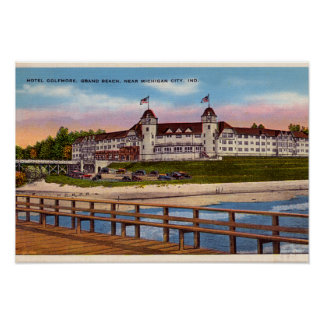 Michigan City Indiana Hotel Golfmore Poster