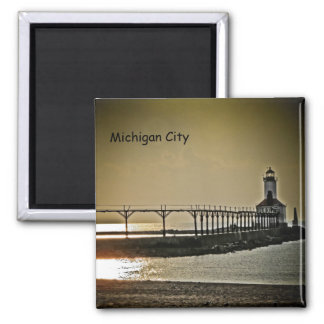 Michigan City Indiana Lighthouse Magnet