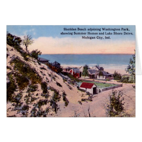 Michigan City Indiana Sheridan Beach Card