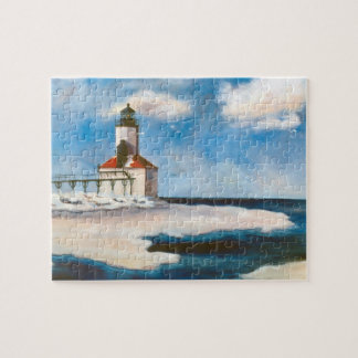 Michigan City Lighthouse Jigsaw Puzzle