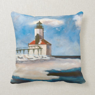 Michigan City Lighthouse Pillow