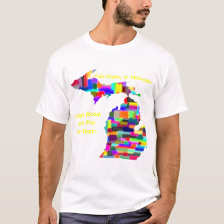 Michigan Colorful Customizable Shirt - Customize