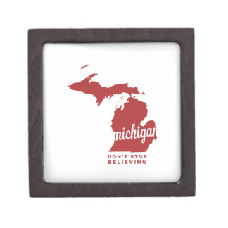 michigan | don't stop believing | crimson premium gift boxes