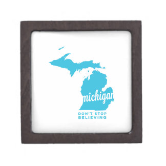 michigan | don't stop believing | sky blue premium jewelry boxes