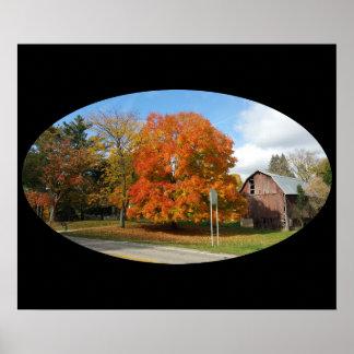 "Michigan Farm, Autumn 2016,24"" x 20"", Value Poster"