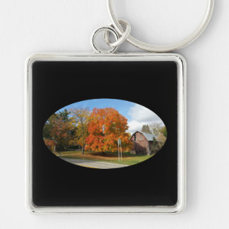 Michigan Farm, Autumn 2016,Premium Square Keychain