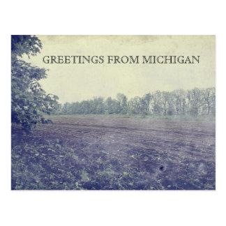 Michigan Farmland Postcard