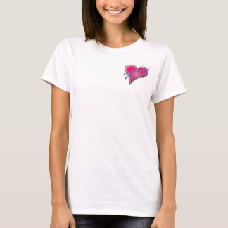 Michigan Fencing - Heart on right breast. T-Shirt