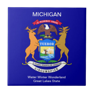 Michigan Flag Tile