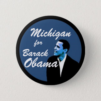 Michigan for Barack Obama 2 Inch Round Button