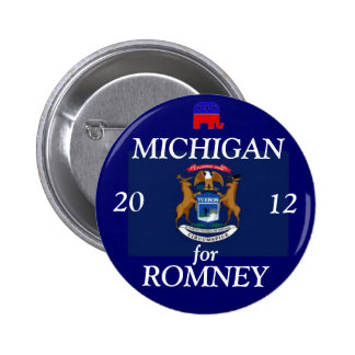 Michigan for Romney 2012 2 Inch Round Button