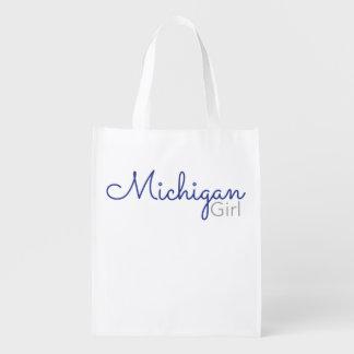 Michigan Girl Reusable Tote Market Tote