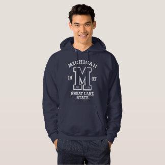 Michigan Go Blue College Men's Hooded Sweatshirt