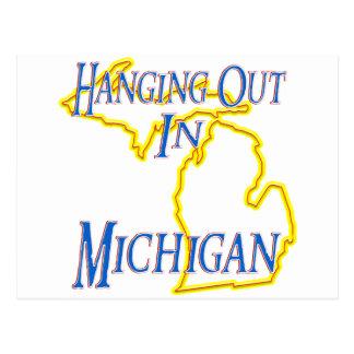 Michigan - Hanging Out Postcard