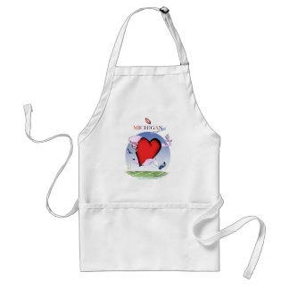 michigan head heart, tony fernandes standard apron