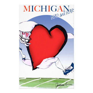michigan head heart, tony fernandes stationery