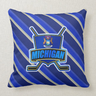 Michigan Hockey Logo Throw Pillow
